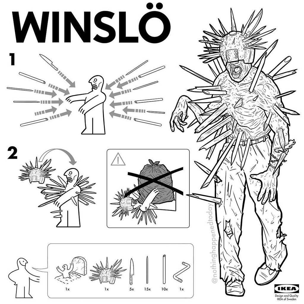 IKEA Instructions for Horror Fans - Winslow by Ed Harrington
