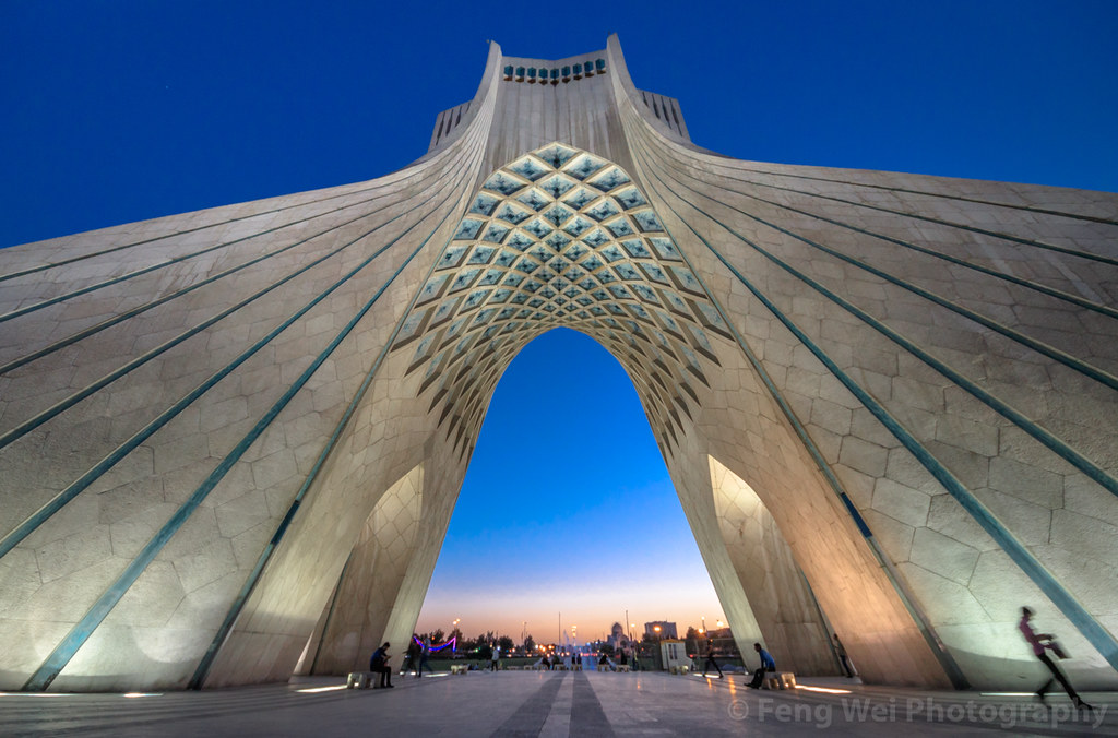... Night View Of Azadi Tower, Tehran, Iran | By Feng Wei Photography