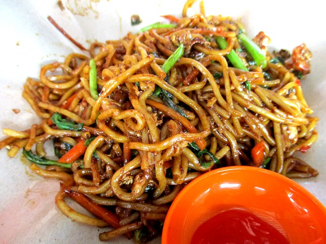 Chopsticks mee goreng seafood with kangkong
