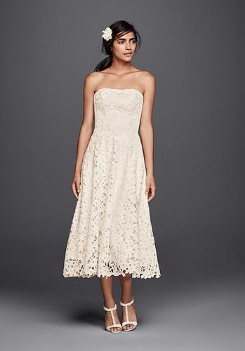 Wedding dresses cut out lace tea length wedding dress for Wedding dresses mobile al