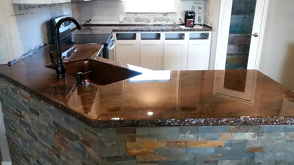 Metallic Marble Epoxy Countertop Artisan Concrete Amp Surfa