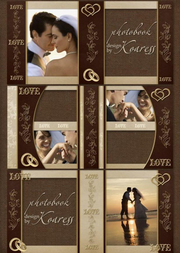 Романтическая свадебная фотокнига