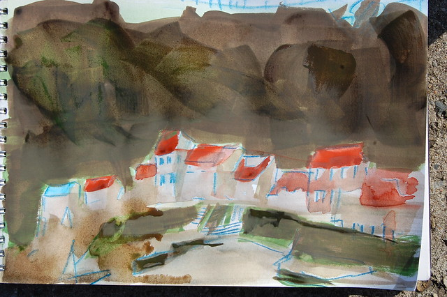 Plein Air sketch of Staithes