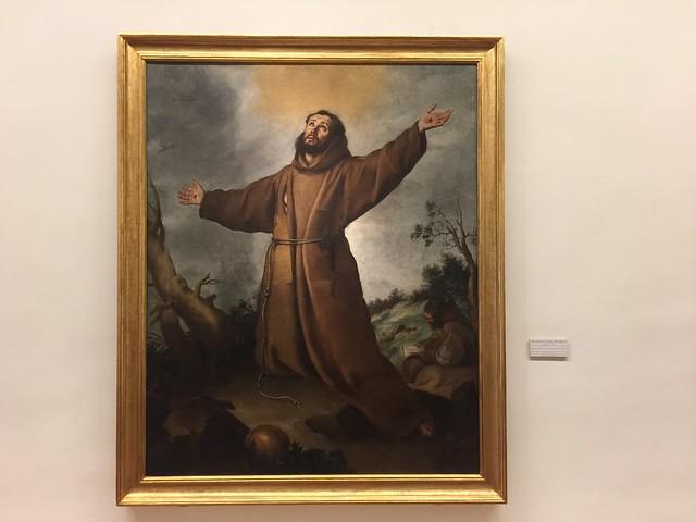 San Francisco, obra de Murillo en el Museo de Bellas Artes de Sevilla