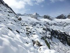 Verschneiter Aufstieg zur Richterhütte