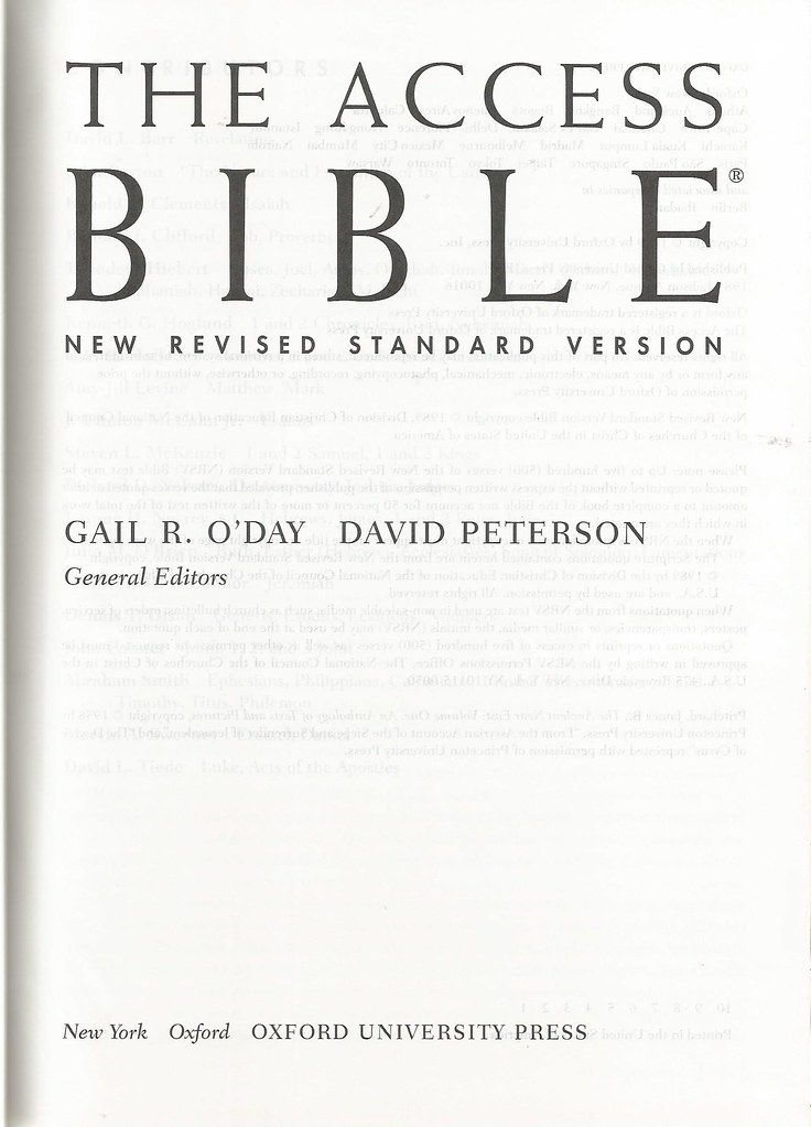 New Revised Standard Version (NRSV) - Internet Bible Catalog