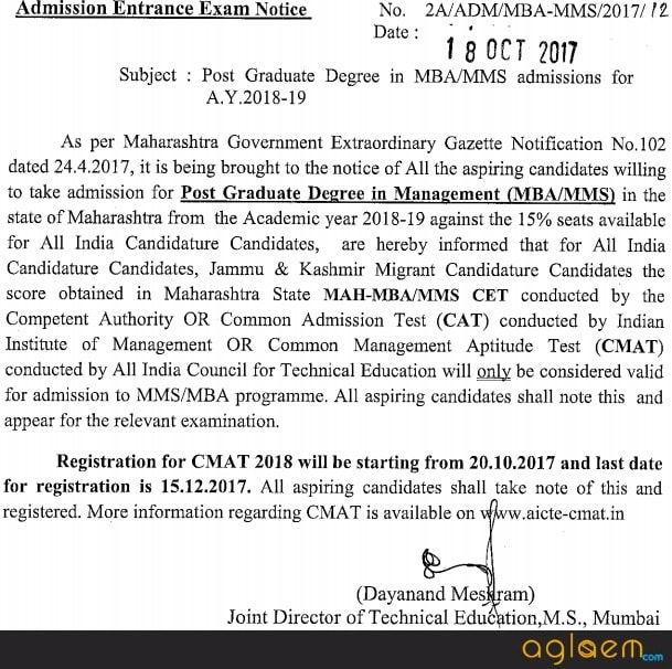 MBA CET 2018 Result, Cut off, Merit, Counselling   MAH CET 2018  %Post Title, %Post Category, AglaSem
