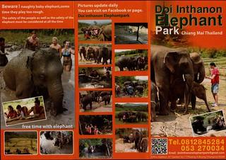 Doi Inthanon Elephant Park Chiang Mai Thailand Brochure 1