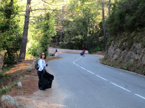 Sur la route autour de la Purcaraccia