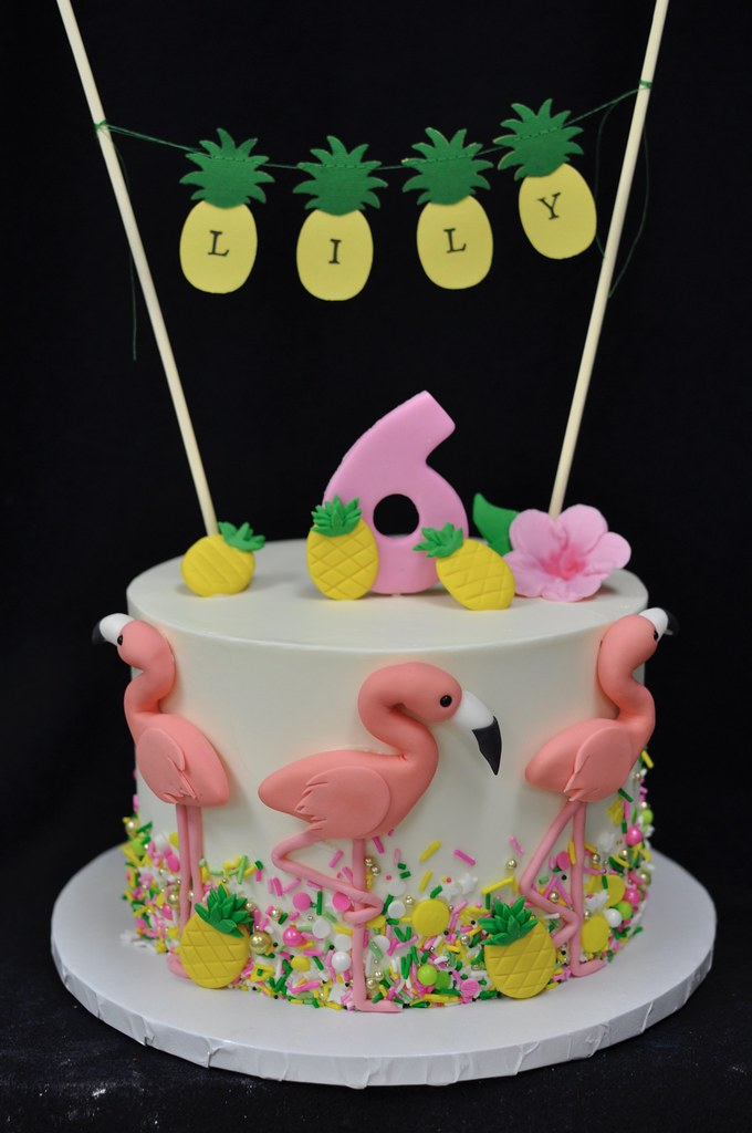Flamingo Birthday Cake Topper Added By Customer Flickr