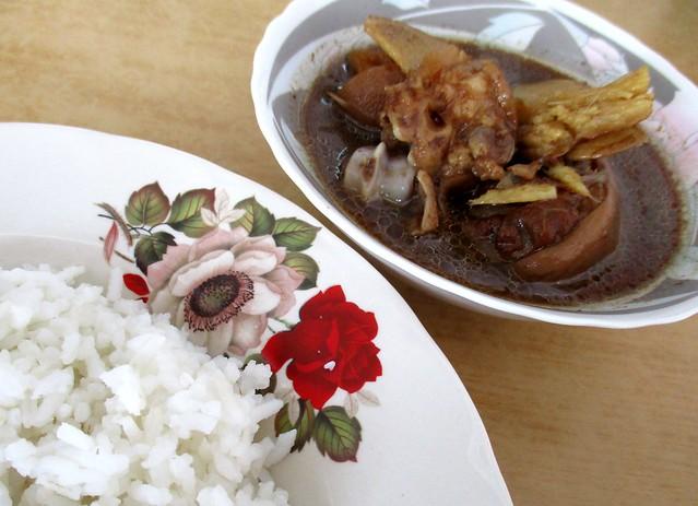 Kopitiam Fantasy black vinegar pork leg rice 1