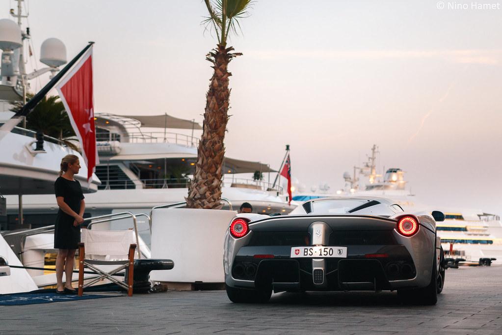 Grigio Ferrari LaFerrari Leaving