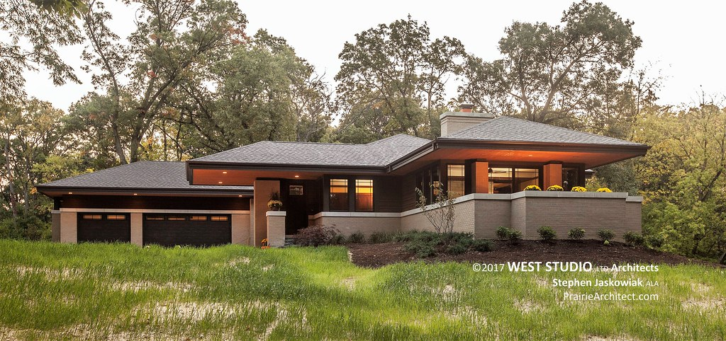 modern style homes hillside house a modern prairie style home by west 31273