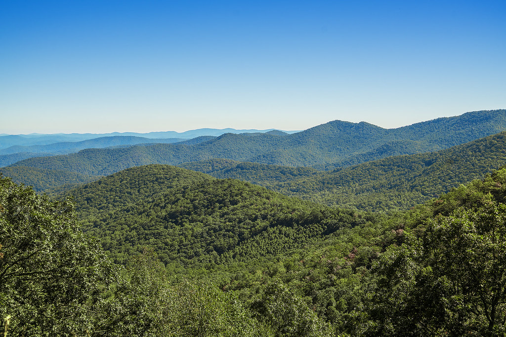 View from Big Ridge Overlook on the Blue Ridge Parkway