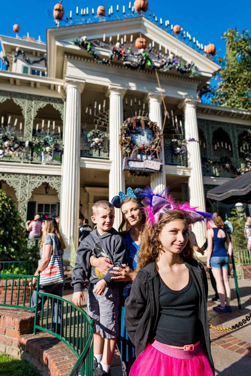 Haunted Mansion with kids at Disneyland