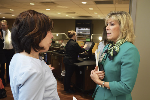 Assistant to the Secretary for Rural Development Anne Hazlett on a tour of Avita Health System's Ontario, Ohio location