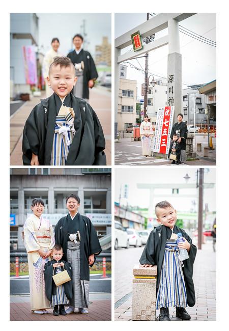七五三写真 深川神社 愛知県瀬戸市 前撮り パパもママも着物 支度シーンからの撮影 ロケーションフォト
