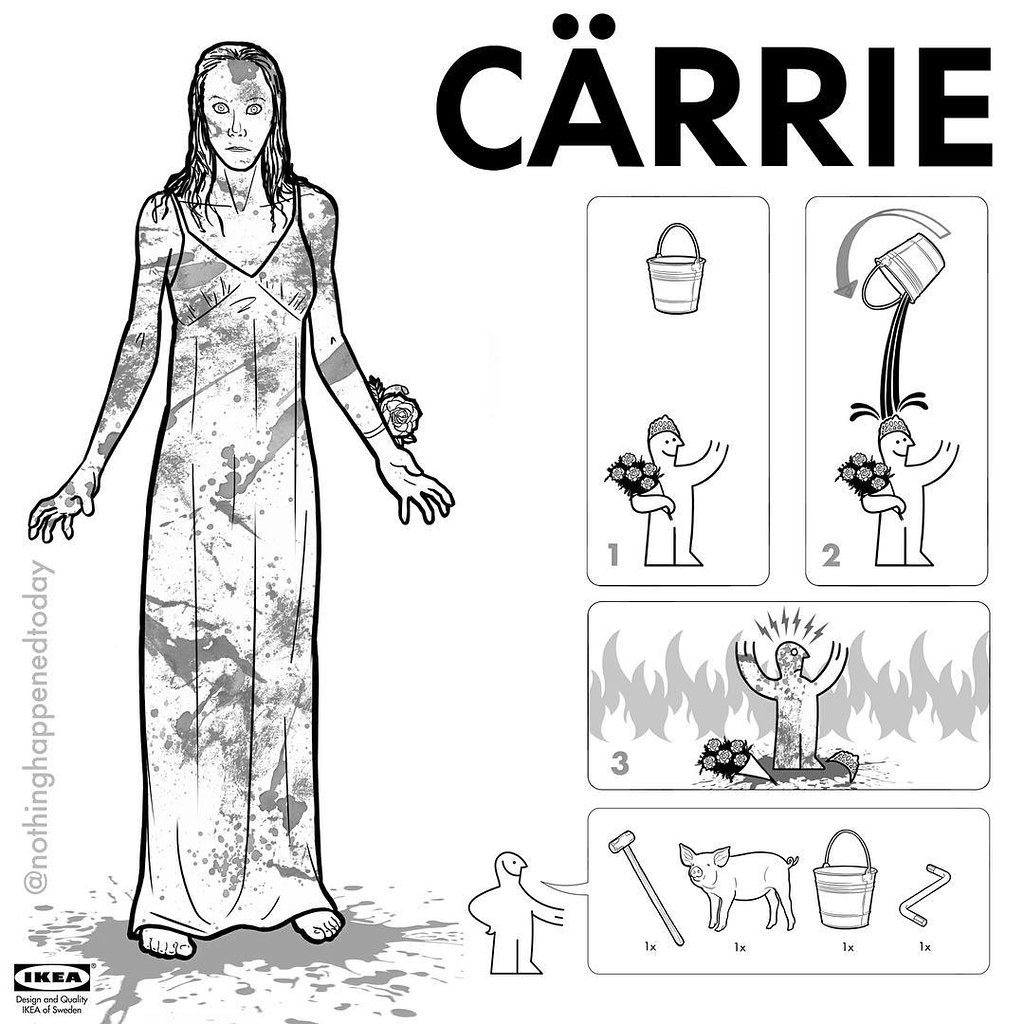 IKEA Instructions for Horror Fans - Carrie by Ed Harrington