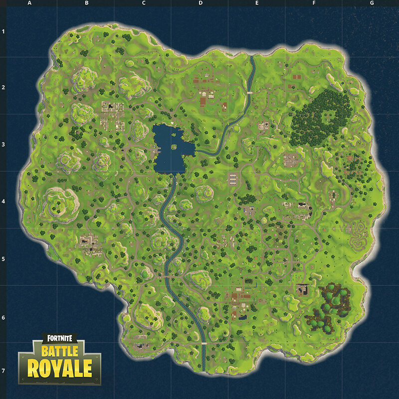 Fortnite Battle Royale Map Original Quiz By Conorrm