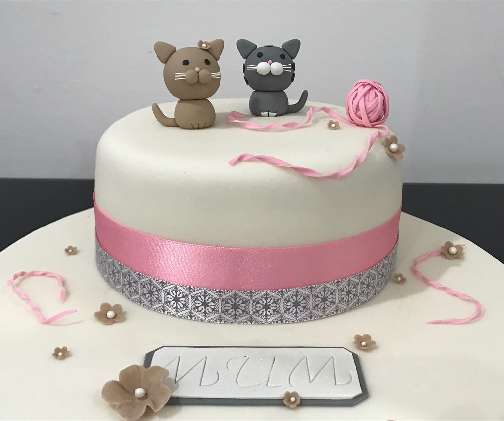 Cat Themed Birthday Cake X