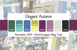 November 2017 Pixel Scrapper Blog Train - Elegant Autumn | by Pixel Scrapper