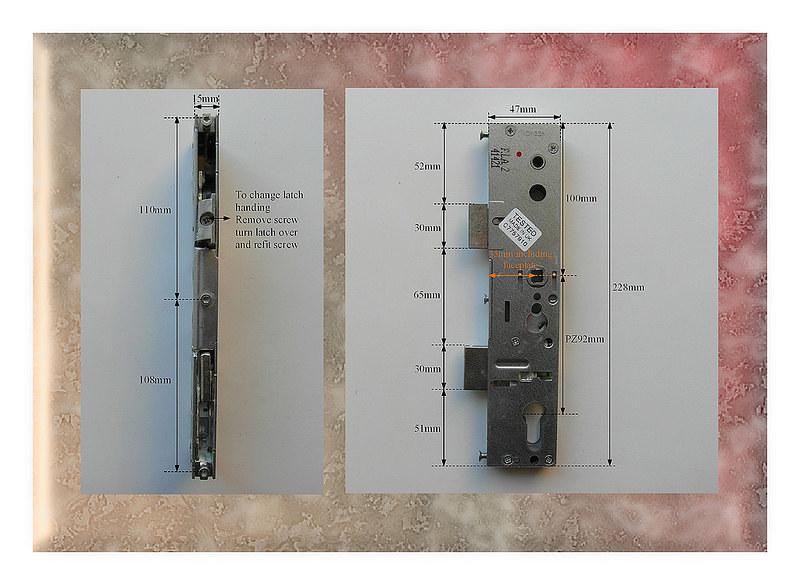 Lockmaster Upvc Door Lock 35mm Pz92 Single Spindle Lock