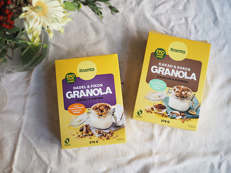 Risenta sokeriton granola