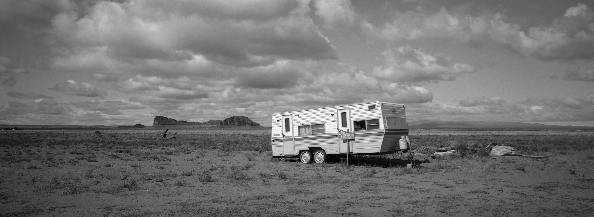 Trailer, Fort Rock, Oregon | by austin granger