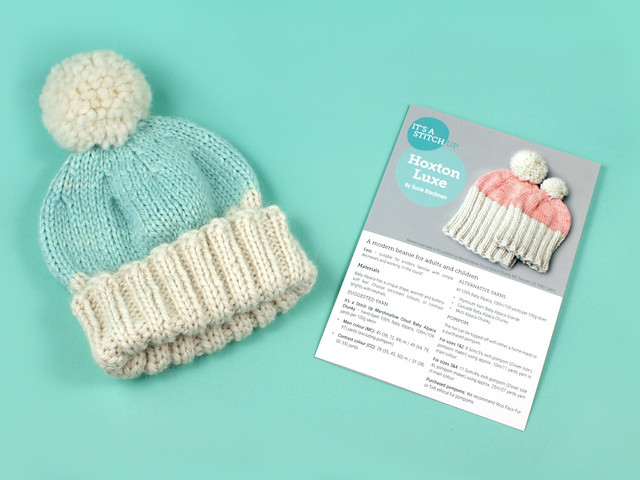 Hoxton Luxe Hat knitting pattern leaflet