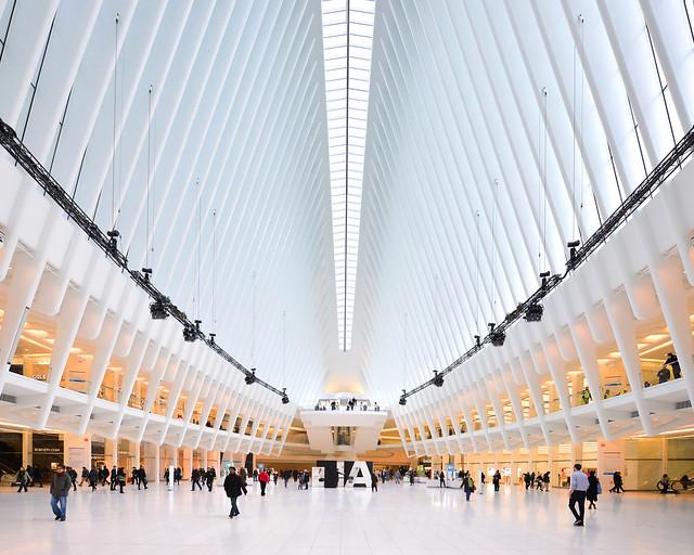 Estación Oculus de Calatrava en Manhattan