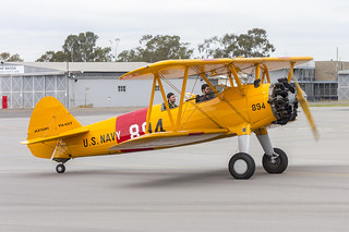Boeing E75 Stearman (VH-SXT) taxiing at Wagga Wagga Airport | by Bidgee