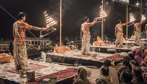 Varanasi - Ghats - Ganga Aarti prayer-7 | by crystalcastaway
