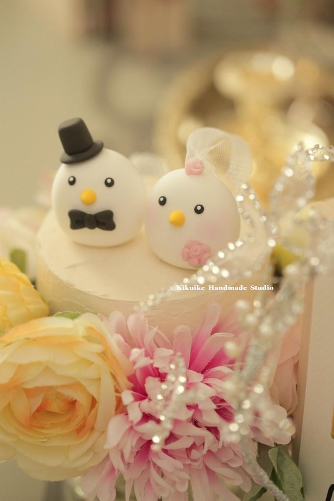 love birds bride and groom MochiEgg custom wedding cake to… | Flickr