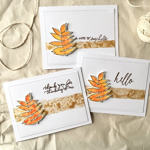 Autumn leaf cards | by Kimberly Toney