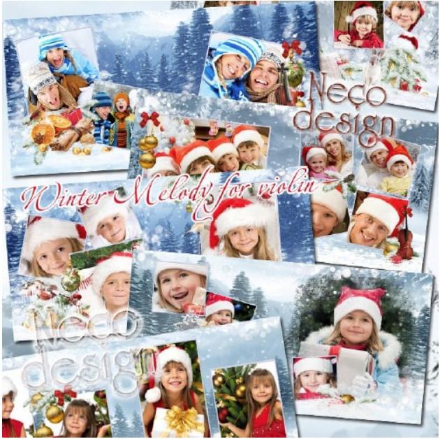 Шаблон новогодней фотокниги