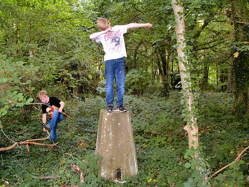 Dabbing on a trig pillar