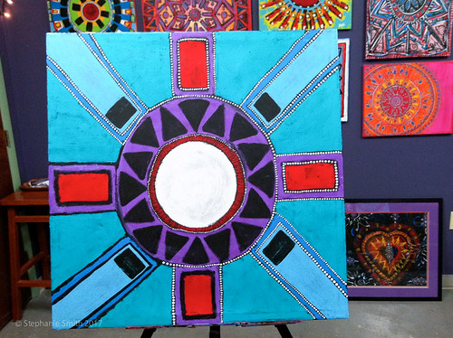 "Expressive mandala painting: ""Community"" 