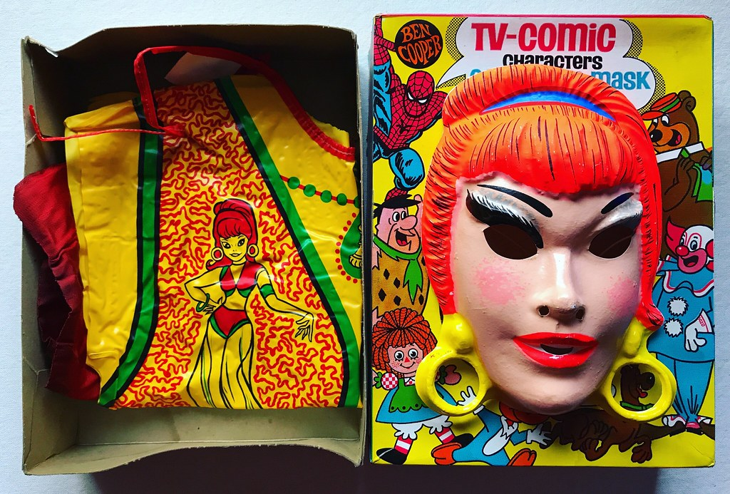 1970s jeannie halloween costume mask by christian montone