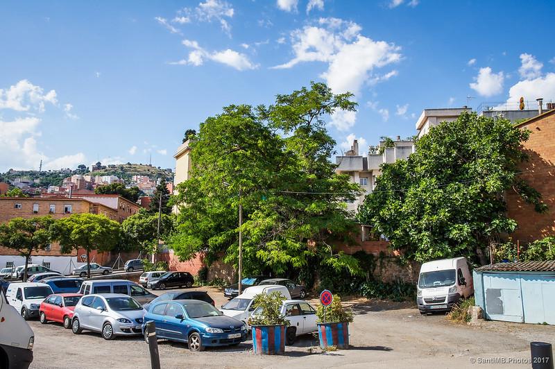 Plaza de la Lavanderas en el barrio de Horta