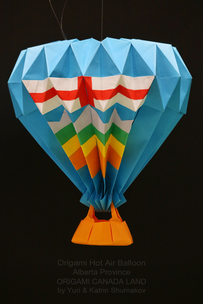 Origami Hot Air Balloon Alberta Of Origami Canada Land Flickr