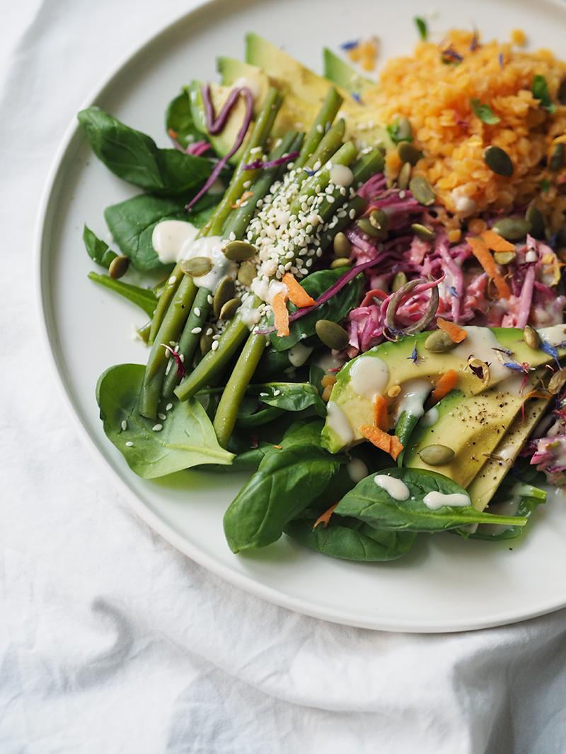 Prebioottinen salaatti