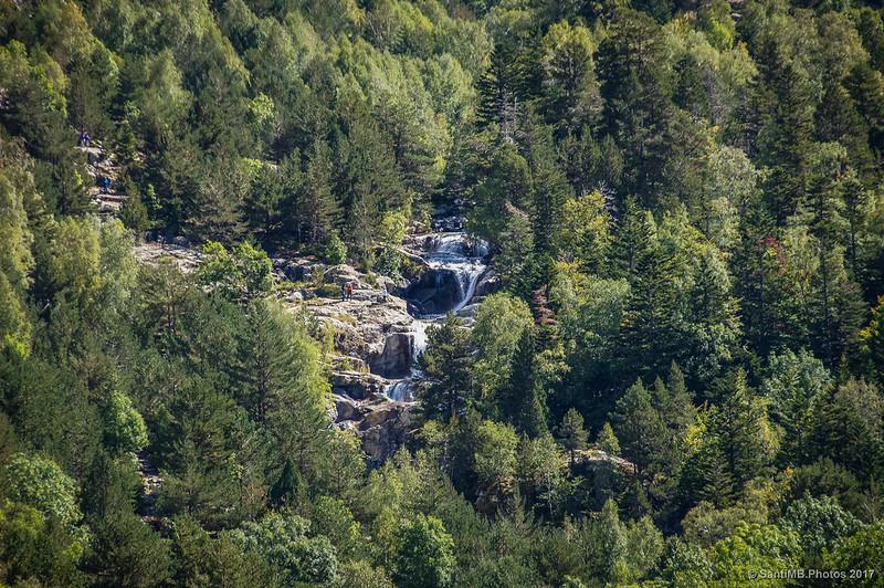 Cascada del Sant Esperit desde muy lejos