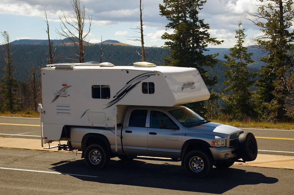 Montana Ponderosa Truck Camper on a Ram 2500 truck, Ponderosa Point Overlook, Bryce Canyon National Park, October 7, 2015.