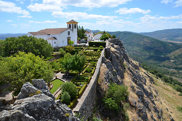 Marvao gardens from castle, Alentejo, Portugal