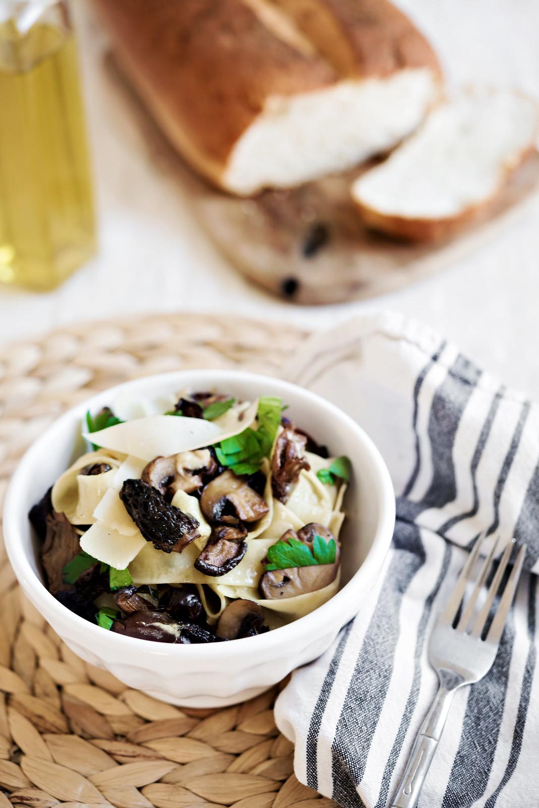 hazelnut mushroom parmesan pappardelle