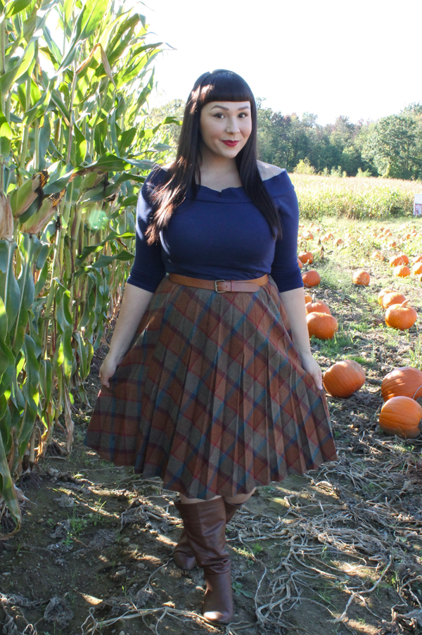 vintage fall plaid
