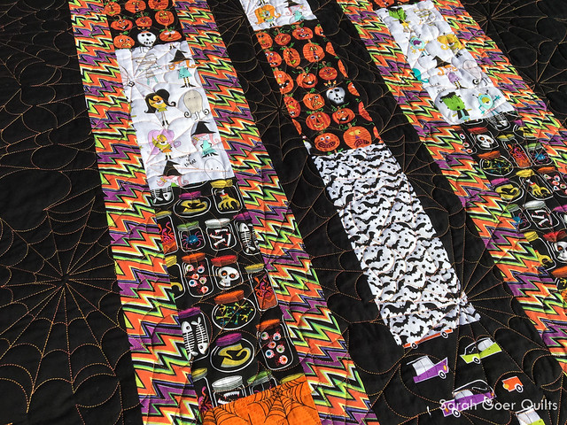 Halloween Strip It Down Quilt , Sarah Goer Quilts