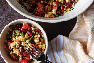Mexican Salad with corn, pepper and bean | by wuestenigel