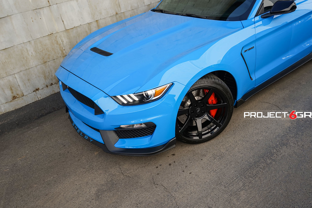Ford Mustang Shelby Gt350 Grabber Blue Project 6gr Wheels Flickr