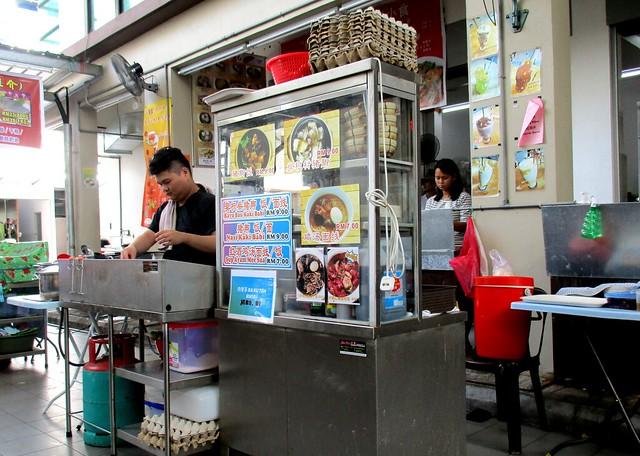 Pork leg rice stall